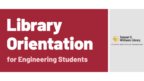 Thumbnail for entry Library Orientation for Engineering Students (2021) - Quiz
