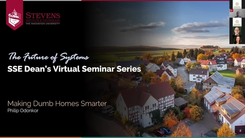 """Thumbnail for entry SSE Prof. Philip Odonkor Lectures on Smart Systems Design: """"Making Dumb Homes Smarter"""""""