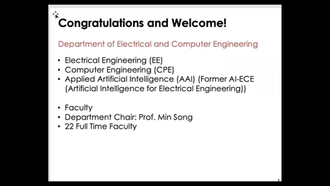 Thumbnail for entry Office of Graduate Admissions: Department of Electrical and Computer Engineering Prospective Student Webinar by Dr. Cristina Comaniciu