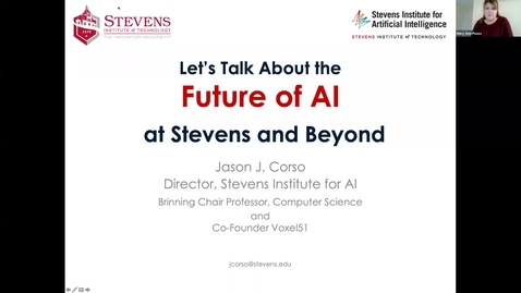 Thumbnail for entry Jason Corso -- Let's Talk About the Future of AI at Stevens and Beyond