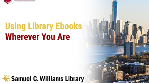 Thumbnail for entry Using Library Ebooks Wherever You Are