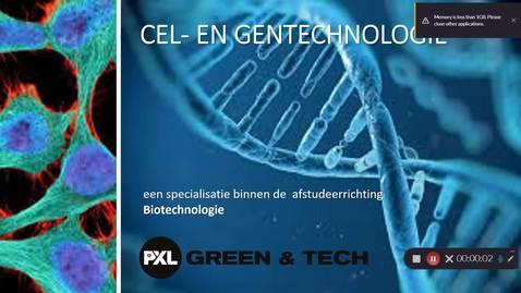 Thumbnail for entry Specialisatie Cel- en Gentechnologie - Biotechnologie
