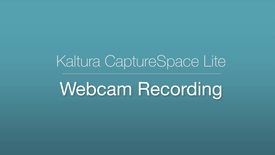 Thumbnail for entry CaptureSpace Lite - Webcam Recording