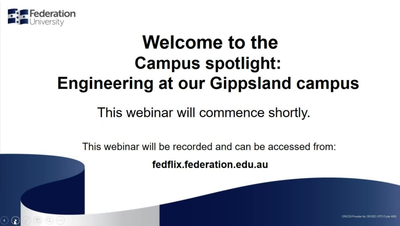 Domestic - Webinar Campus spotlight Engineering at Gippsland campus