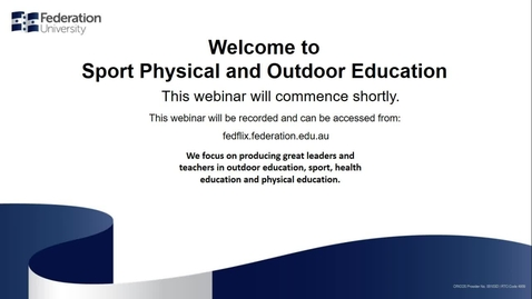 Thumbnail for entry Domestic: Study Sport, Physical or Outdoor Education