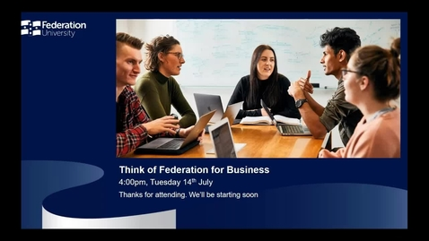 Thumbnail for entry International Webinar - Think of Federation for Business