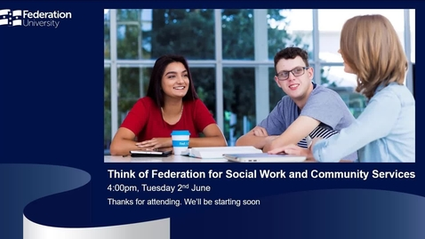 Thumbnail for entry International webinar - Social Work and Community Services