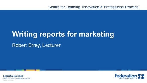 Thumbnail for entry Business Marketing Report Writing Tips