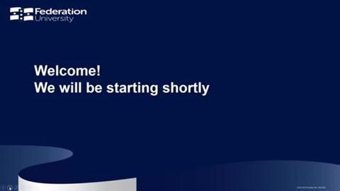Thumbnail for entry Scholarships, Bursaries & Grants - Your Fed Future webinar series - webinar 3