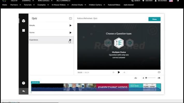 Kaltura Interactive Video Quizzing Walkthrough