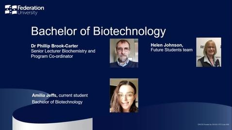 Thumbnail for entry Domestic Webinar: Bachelor of Biotechnology