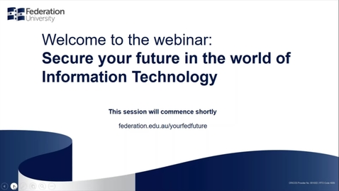 Thumbnail for entry Domestic Webinar - Secure your world in the future of IT