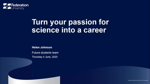 Thumbnail for entry Study Science - Webinar 12