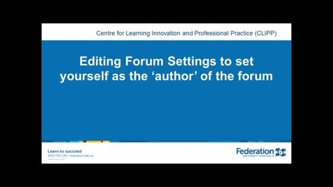 Thumbnail for entry Edit forum author after rollover(Import) of your moodle shell