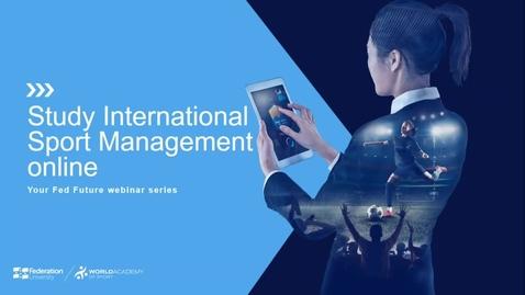 Thumbnail for entry Study International Sport Management Online - webinar