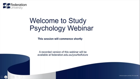 Thumbnail for entry Domestic Webinar Study Psychology