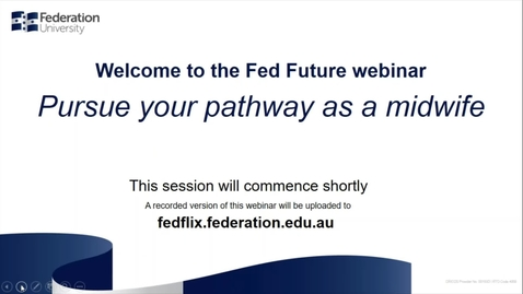 Thumbnail for entry Domestic Webinar- Pursue your pathway as a midwife