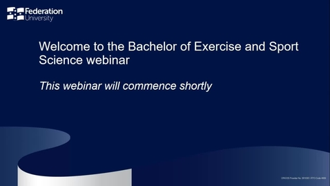 Thumbnail for entry Bachelor of Exercise and Sport Science