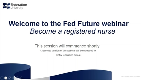 Thumbnail for entry Domestic webinar - Become a Registered Nurse