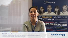 Thumbnail for entry FedUni Brisbane student story Anchal, Master of Technology and Concentrix