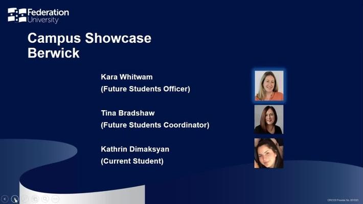 Campus Showcase Berwick - Your Fed Future webinar series - Webinar 6