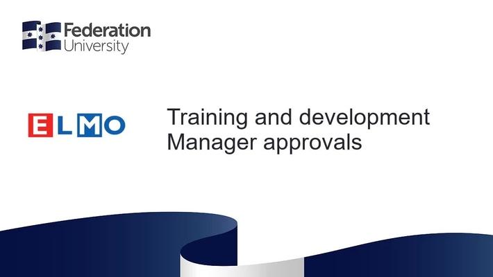 ELMO - Manager approvals