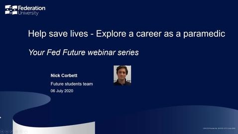 Thumbnail for entry Webinar: Help save lives - Explore a career as a paramedic