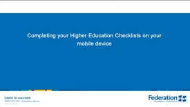 Thumbnail for entry How to complete enrolment checklists