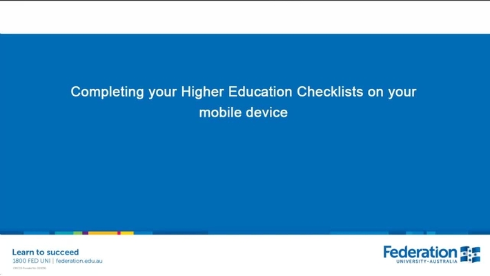 How to complete enrolment checklists