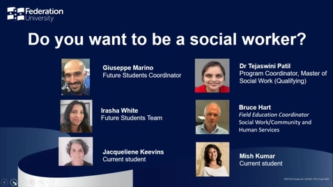 Thumbnail for entry Domestic- Webinar: Do you want to be a social worker?