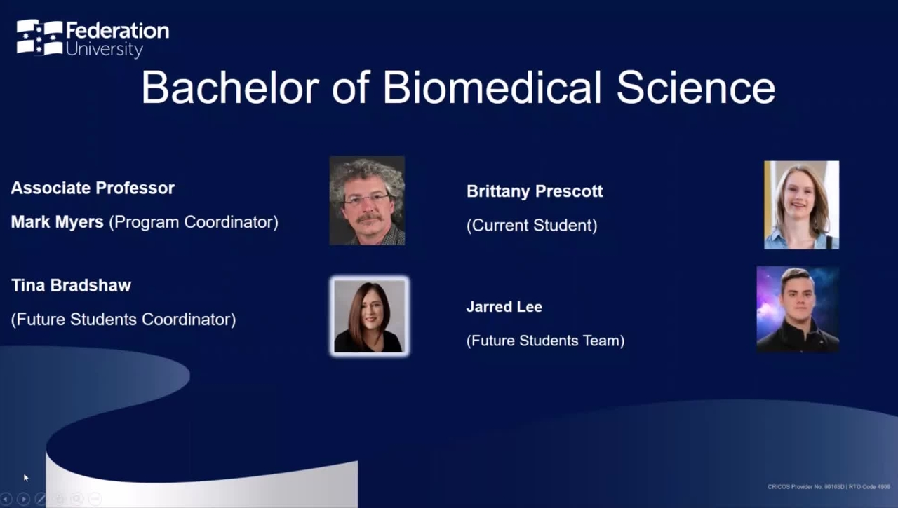 Domestic Webinar: Bachelor of Biomedical Science