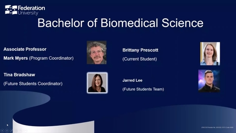 Thumbnail for entry Domestic Webinar: Bachelor of Biomedical Science