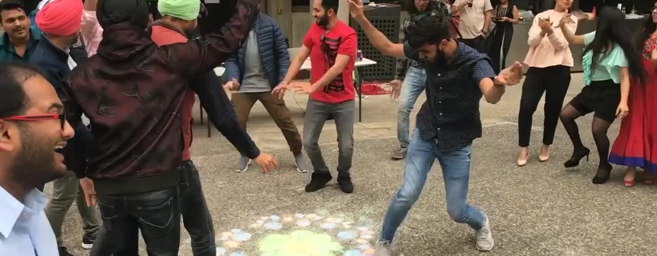 Diwali dancing at FedUni