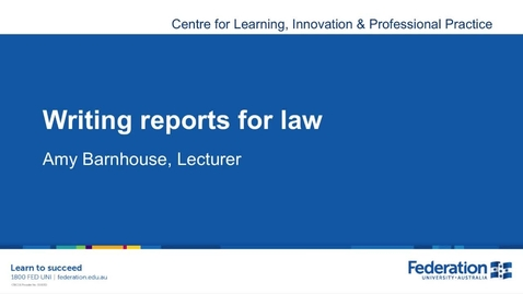 Thumbnail for entry Business Law Reporting Writing Tips