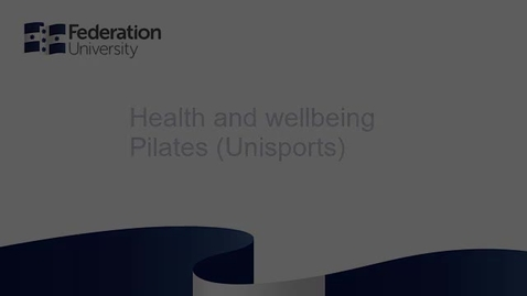 Thumbnail for entry Health and wellbeing - Pilates