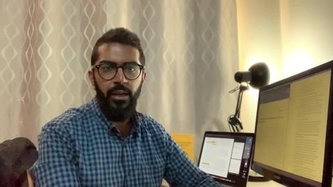 Thumbnail for entry Master of Social Work student Mohammed Salman testimonial