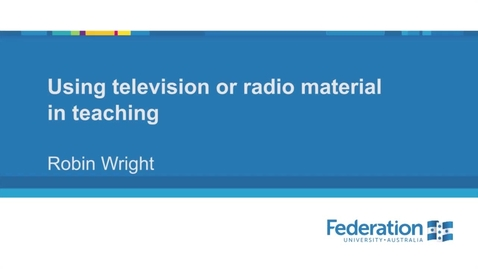 Thumbnail for entry Video4 Using television or radio material in teaching 1