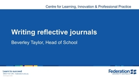 Thumbnail for entry Writing Reflective Journals