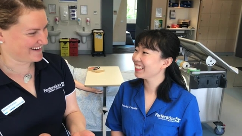 Thumbnail for entry FedUni Bachelor of Nursing student testimonial (Jing)