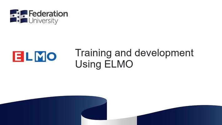 ELMO Introduction - Using ELMO
