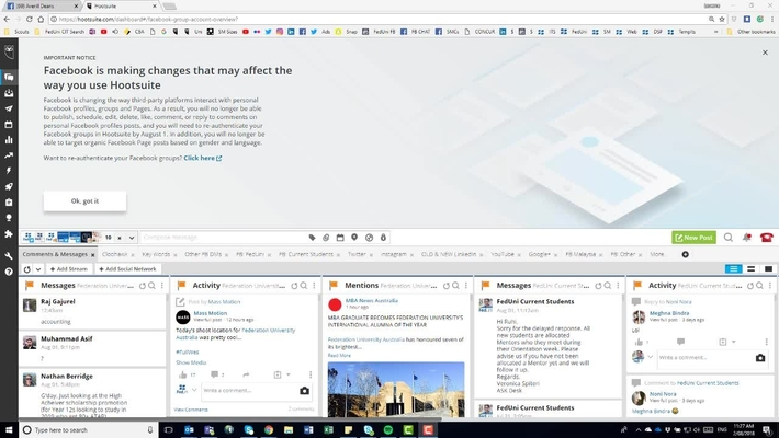 Hootsuite: Reconnecting Facebook Groups