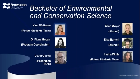 Thumbnail for entry Domestic webinar- Environmental and Conservation Science