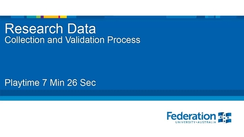 Thumbnail for entry Research Data Collection and Validation Process