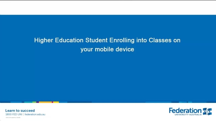 How to enrol into classes