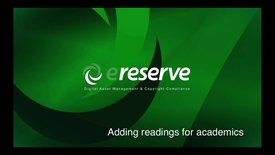 Thumbnail for entry Library-Adding Reading For Academic