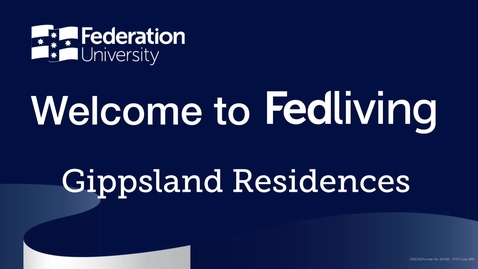 Thumbnail for entry Federation University Residence Tour, Gippsland Campus