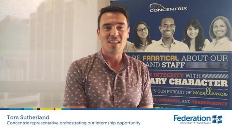 Thumbnail for entry FedUni Brisbane and Concentrix partnership - Tom Sutherland