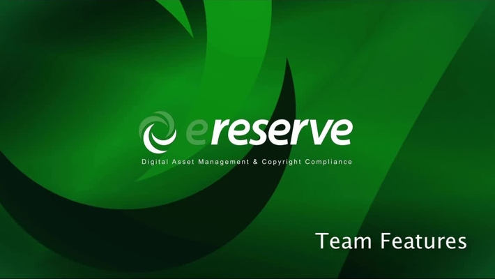 Library- eReserve Team Features
