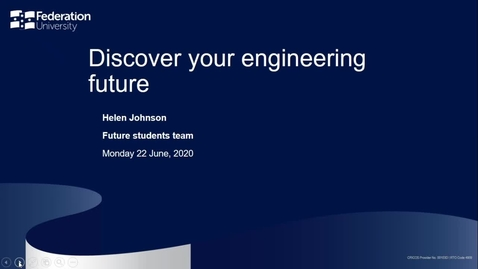 Thumbnail for entry Domestic Webinar- Discover your Engineering Future