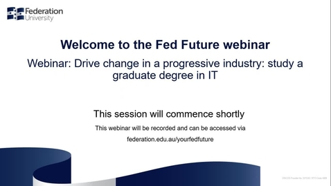 Thumbnail for entry Domestic Webinar- Graduate Degree in IT